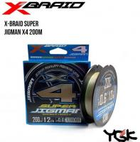 Шнур X-Braid Super Jigman X4 200m PE#2 lb30